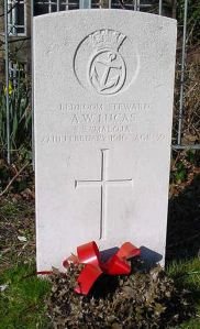 A.W. Lucas, Bedroom Steward, Victim of the Maloja disaster, died 27 February 1916. St Mary's Cemetery Copt Hill, Dover.