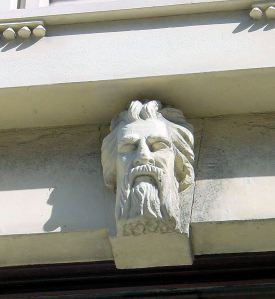 New Bridge House - detail showing one of the decorative heads
