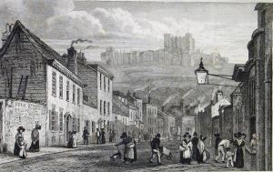 St James Street- circa 1840. Drawn by George Shepherd. Dover Library
