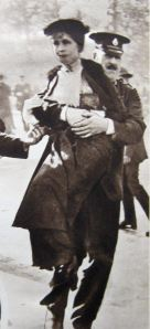 Suffragette removed from a demonstration Thanks to Eveline Robinson