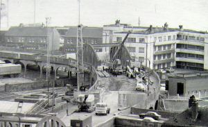 Demolition of the original Viaduct in 1973.