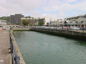 Wellington Dock east end and the Bubbles, where the Dour enters the dock. Alan Sencicle
