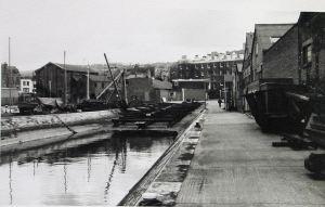 Slipway in Wellington Dock c1970. Dover Library