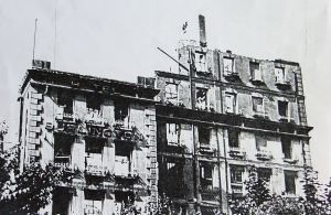 World War II damaged former Burlington Hotel. Dover Library