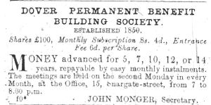 Dover Permanent Benefit Building Society 1891