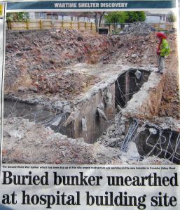 Buckland Hospital Wartime Bunker exposed - Dover Mercury 22.08.2013