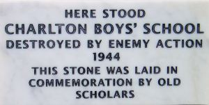 Charlton Boys' School was in Granville Street but was destroyed by enemy action during WWII. A recently erected plaque, by the Dover Society, marks the site and where the old plaque once was.