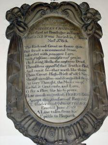 Charles Churchill Memorial, St Mary's Church