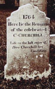 Charles Churchill Gravestone, St Martin's Cemetery. Dover Library