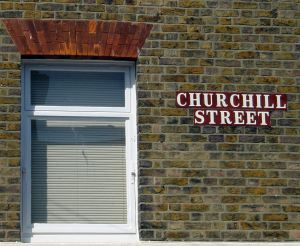 Churchill Street, Buckland, Dover, named after the Poet according to some sources but more likely Randolph Churchill the politician