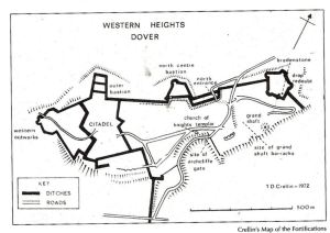Doug Crellin's Map of the Western Heights fortifications