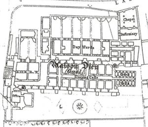 Plan of Maison Dieu Gaol 1867-1878