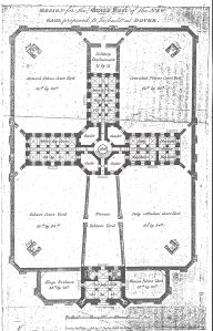 Design for the new prison on Gaol Lane 1818 . Dover Library
