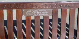 Seat dedicated to Dr Gertrude Toland, Dover Seafront