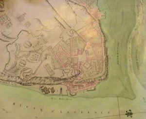Plan of Quebec circa 1758