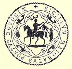 Dover Town Council Seal - depicting St Martin of Tours. LS