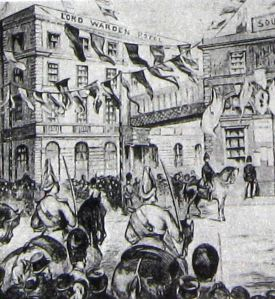 Duke & Duchess of Connaught welcomed at Town Station 14 July 1883