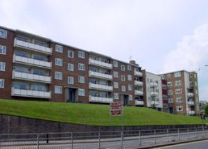 Durham Hill Flats seen from York Street. Alan Sencicle 2009