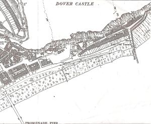 East Cliff and Athol Terrace area 1898 showing Castle Jetty
