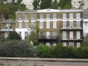 East Cliff Mansions showing the date 1834