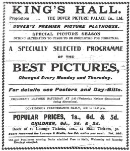 Kings Hall Biggin Street - Dover Times 21.11.1912