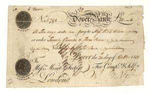 Minet Fector Bank draft for £20.3s payable to W & E Allen 24.10.1801. Reproduced by kind permission of The Royal Bank of Scotland Group © 2013