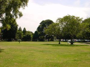 Pencester Gardens today looking towards Stembrook Court were the Tannery once stood