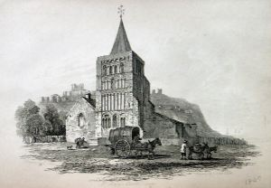 St Mary's Church circa 1849 where the Wivell's and the Gunman's worshipped