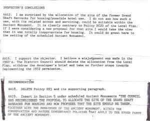 Western Heights Local Plan Inquiry 1992 - extract from the Inspector's Report