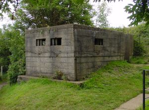 Pill boxes were constructed by the Home Guard. This one is on Western Heights AS 2009