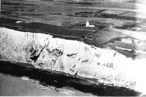 Upper South Foreland Lighthouse above the Submarine cable cave, where Guglielmo Marconi conducted his experiments. Dover Museum