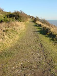 Footpath over the Eastern Cliffs following the old railway line