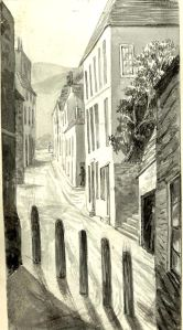 Adrian Street c 1890 from Five Post Lane by Mary Horsley, Dover Museum