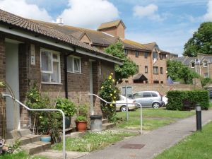 Battle of Britain bungalows part of the Almshouse complex. Municipal Charities of Dover