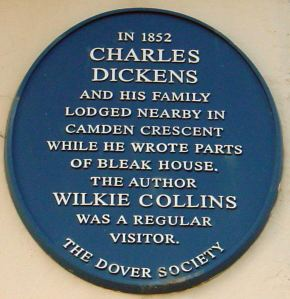 Dover Society Plaque to Charles Dickens, Camden Crescent.