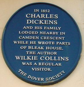 Dover Society Plaque to Charles Dickens in Camden Crescent. Alan Sencicle