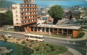 Dover Stage and Granville Gardens with lake c 1970