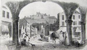 Castle Street in the making c 1830. Dover Museum