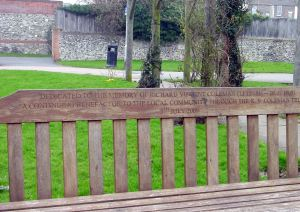 Seat dedicated to Richard Vincent Coleman (1831-1900) - Riverside Gardens