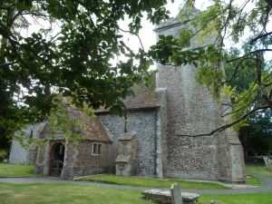 St Augustine's Church, East Langdon, where Thomas Marsh is buried.