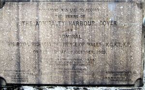 Admiralty Harbour Final Stone laid by the Prince of Wales 15 October 1909