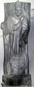 Bob Forsyth - St Richard of Chichester carved in 1955 in the Maison Dieu
