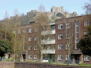 Pencester Court flats at the southern end of Pencester Gardens. Alan Sencicle.