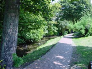 Pencester Gardens river side path alongside the Dour. Alan Sencicle
