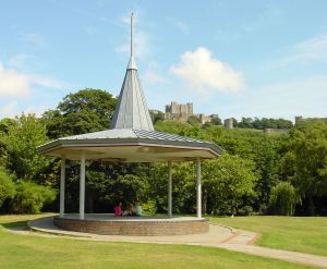 Pencester Gardens Millenium Bandstand against the backdrop of Dover Castle where successful productions and concerts were produced but local hooligans did their best to ruin. Alan Sencicle