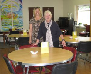 Present Manager, Karen Tranter with Marion Holmes Administration Assistant