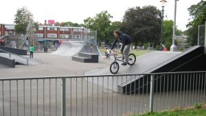 The extended Skate Board Park in Pencester Gardens that opened in 2007. LS