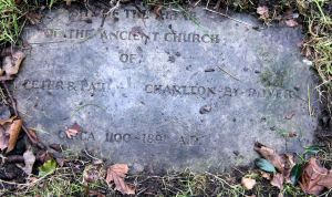 SS Peter & Paul Charlton - Altar of old Church c 1100 - 1891 Churchyard. Courtesy of Fr Colin Johnson