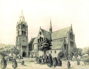 SS Peter & Paul Church - drawing of proposed Bell Tower west side. Courtesy Fr Colin Johnson