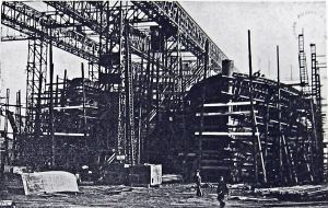 Train Ferry  under construction c1933. Dover Library